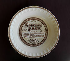 CHEESE CAKE Pie Plate ROYAL CHINA by JEANETTE w Recipe DEEP DISH 11 Inch