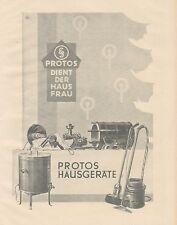 J1139 PROTOS Hausgerate - Pubblicità grande formato - 1927 Old advertising