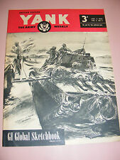WWII YANK MAGAZINE NEWSPAPER AUG 3rd 1945 ETO BRITISH EDITION