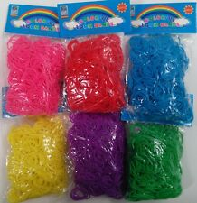 3600 RED PINK YELLOW GREEN PURPLE BLUE Rainbow Color loom refill rubber bands