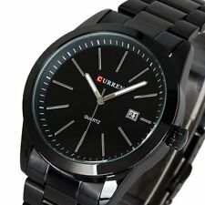 CURREN Mens Fashion Sport Date Titanium Band Stainless Steel Quartz Wrist Watch