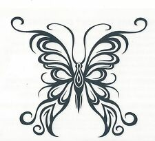 Large Butterfly Temporary Tattoo Tribal black