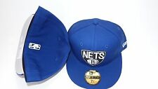NWT NEW ERA HAT CAP FITTED 59FIFTY BROOKLYN NETS SIZE 7 3/8 BLUE