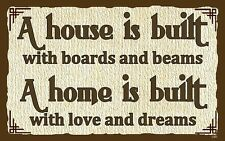 (House Home) WALL DECOR, DISTRESSED, RUSTIC, PRIMITIVE, HARD WOOD, SIGN, PLAQUE