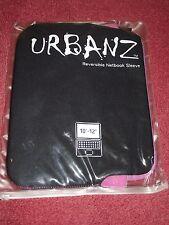 Urbanz Reversible neto manga de 10-12 PULGADAS de libro negra con ribete rosa o simplemente Rosa