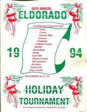 High School Basketball Program Illinois 1994 Tournament Eldorado Holiday