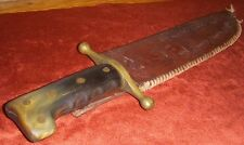 WWII Collins Carlson's Raiders USMC Type Combat Knife w/Modified Sheath, Handle