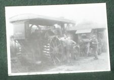 NOSTALGIA INK POSTCARD STEAM TRACTOR & DRIVER (1918).