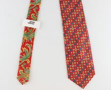 NWT rare GIANNI VERSACE first line silk TIE red floral paisley blue green yellow