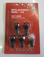 Noma Alderbrook G6 12v 1.08w Christmas Fairy Light Spare Lamps, Red Berry Bulbs