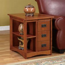 Powell 356 Mission Oak Cabinet Table NEW
