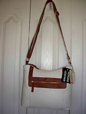$99 GENUINE LEATHER Handbag Hobo Sachel Purse Shoulder Bag ST JOHNS BAY 2 TONE