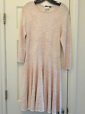 Alexander McQueen Jacquard Print Fit & Flare Pink & Ivory Dress Size XL $2490