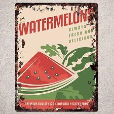PP0155 Rust Watermelons Sign Kitchen Shop Cafe Restaurant Interior Decor Gift