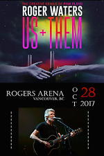 """ROGER WATERS """"US + THEM TOUR"""" 2017 VANCOUVER CONCERT POSTER - Pink Floyd Genius"""