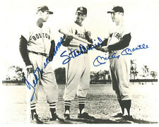 TED WILLIAMS, STAN MUSIAL & MICKEY MANTLE Signed Photo - JSA Full Letter COA