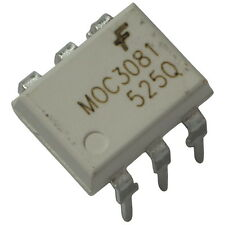 2 MOC3081 Fairchild Optokoppler 7,5kV 800V 15mA Zero-Cross-Detector DIP-6 855747