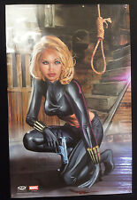34.5 x 22.5 NIP Greg Horn 2002 Black Widow Marvel Comics Poster rolled Diamond