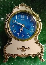 Elgin Windup Alarm Miniature Mantle Style Clock Working Order Japan 85442