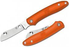 SPYDERCO Roadie Slipjoint N690Co Pln Sheepsfoot Blade Orange FRN Handle C189POR