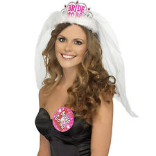Bride To Be Crown Tiara Veil Lace Hen Night Party Accessory Wedding Bridal Decor