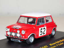 1/43 IXO BMC Mini Cooper S #52 Winner Rally Monte Carlo 1965 T.Makinen P.Easter