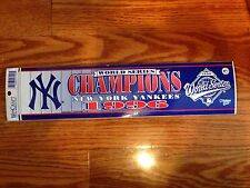 New York Yankees 1996 World Series Champ Bumper Sticker