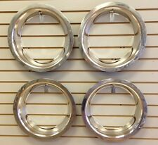 "15"" 3"" Deep Stainless Steel Beauty Trim Ring Set of 4 Fits 15x8 Rally Wheels"