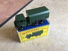 MATCHBOX REGULAR No.62a AEC COVERED ARMY TRUCK, D BOXED