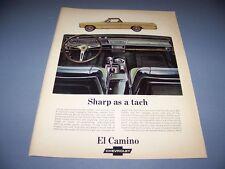 VINTAGE..1967 CHEVROLET EL CAMINO...1-PAGE COLOR ORIGINAL SALES AD..(556K)