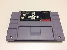 Demolition Man For Super Nintendo, SNES