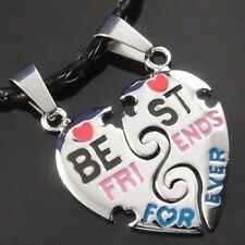 "Best Friends Forever Heart Pendant with 2 pcs of 20"" Choker Necklace PP#227"
