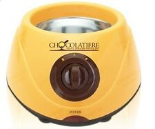 Electric Chocolatiere Fondue Chocolate Melting Pot Machine Set