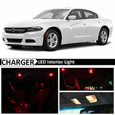 15x 2015-2016 Dodge Charger Red Interior LED Lights Package Kit