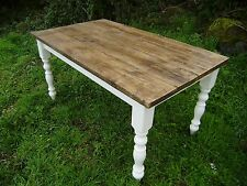 pine rustic farmhouse shabby chic recliamed wood table 5 foot by 3 foot