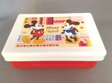 New Bento Mickey Minnie Folding Lunch Box Sandwich Case  Free Shipping