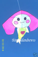 """Silly Rabbit"" Delta Kite:69"" W X 67""Overall H w/Tail:Outdoor Toy,Christmas Gift"