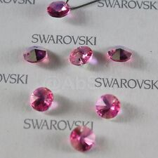 12 pieces Swarovski Elements 6200 8mm Faceted Rivoli Round Pendant - Pick Colors