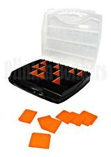 PLASTIC 23 COMPARTMENT TOOL ORGANISER STORAGE BOX SCREW NAIL NUT BOLT CARRY CASE