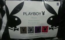BRAND NEW OFFICIAL PLAYBOY BLACK ZEBRA WHITE 79x84 QUEEN SIZE BLANKET