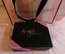 Victoria's Secret Angel Forever Black Sequin Coin Purse Wallet Clutch Box Bag