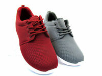 MENS CANVAS MESH TRAINERS CASUAL SPORTS GYM RUNNING LIGHTWEIGHT SHOES SIZE