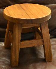 26cm TALL SOLID WOOD FOOTSTOOL Guitar Milking Foot Stool