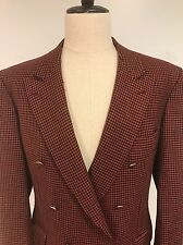 VTG Brioni Italy Men's Houndstooth Sport Coat Jacket Blazer Dbl Breast Size 42
