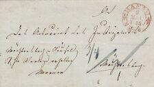 Thurn und Taxis, Postvorschußbrief aus Hanau nach Wächtersbach, 1855