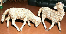 SET OF 2  SHEEP HARD RUBBER TYPE MATERIAL MARKED ITALY