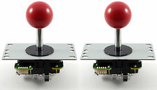 2 x Genuine Sanwa JLF-TP-8YT Ball Top Arcade Joysticks, 4/8 Way (Red) MAME JAMMA