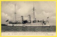 """cpa Précurseur ANVERS 1903 Navire de Guerre Bateau l' AVISO TORPILLEUR """"CASSINI"""""""