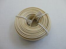50 Foot Modular Phone/Telephone Wire Line Cord/Cable RJ11 6P4C, Ivory Color