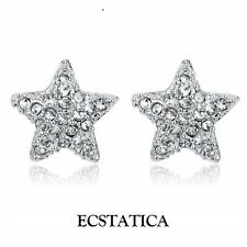 Christmas Star Swarovski Stud Earrings by Ecstatica™ Gift for Girlfriend